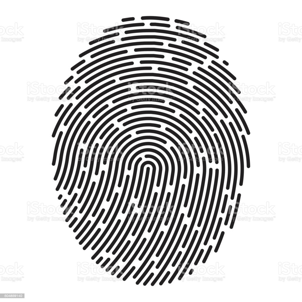 Modern fingerprint. Vector vector art illustration