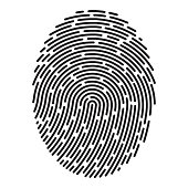 Modern fingerprint. Vector