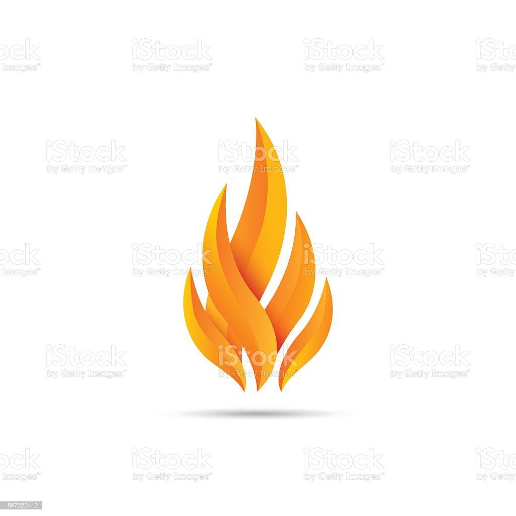 Modern fire icon vector art illustration