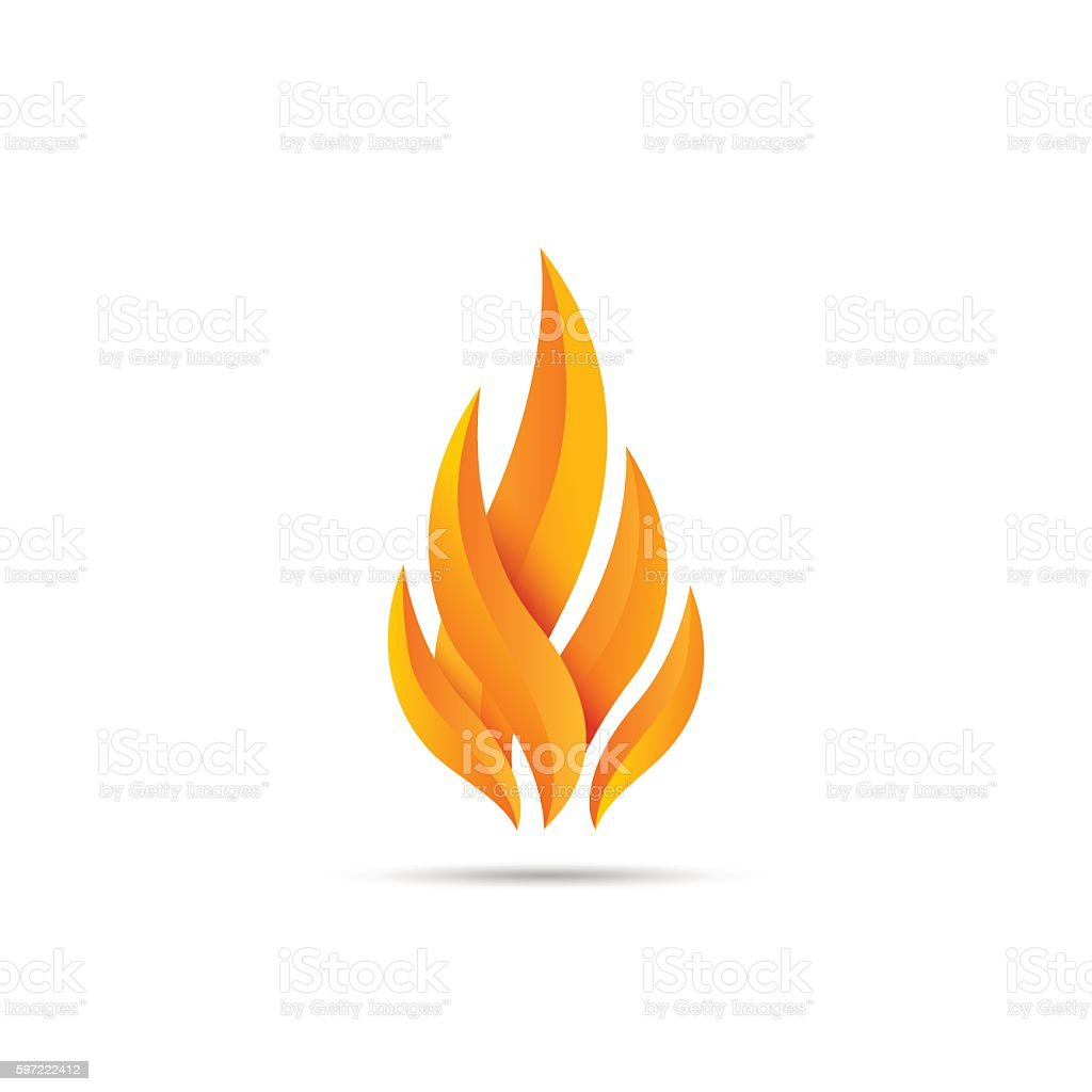 Modern fire icon vector art illustration