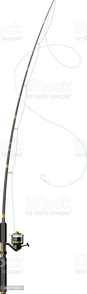 modern fishing pole vector art illustration