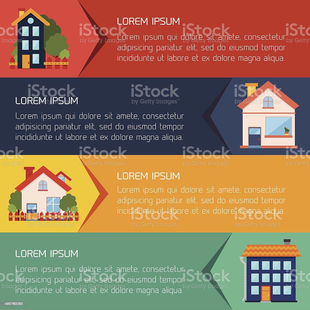 Modern flat city background infographics royalty-free stock vector art