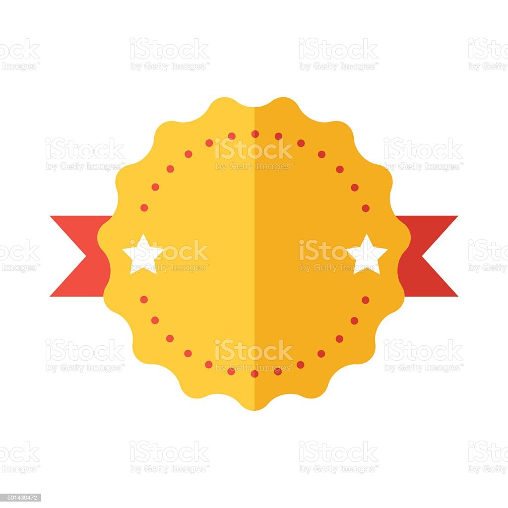 Modern flat design badge icon vector art illustration
