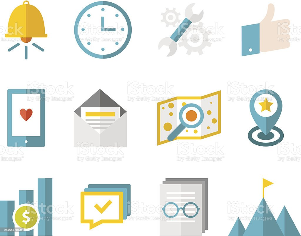 Modern flat icons vector collection vector art illustration