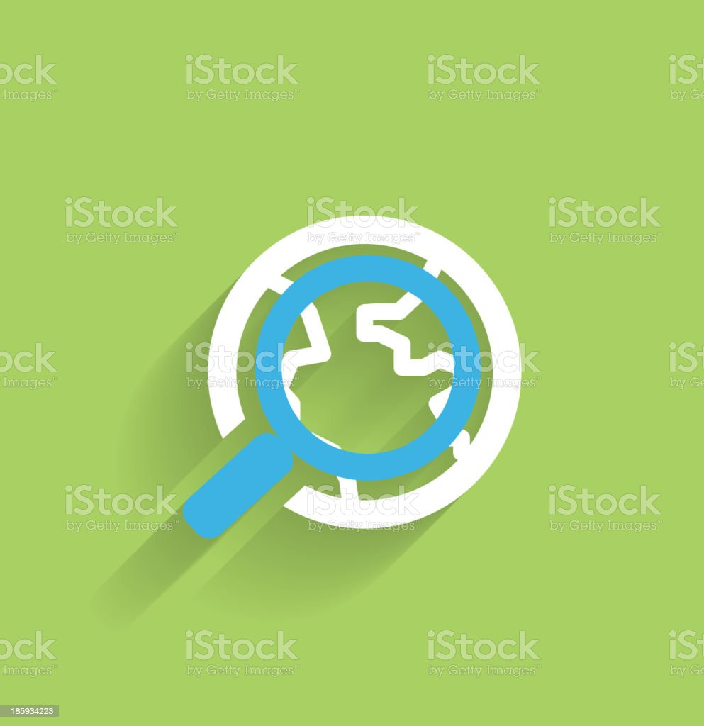Modern flat long shadow search icon royalty-free stock vector art