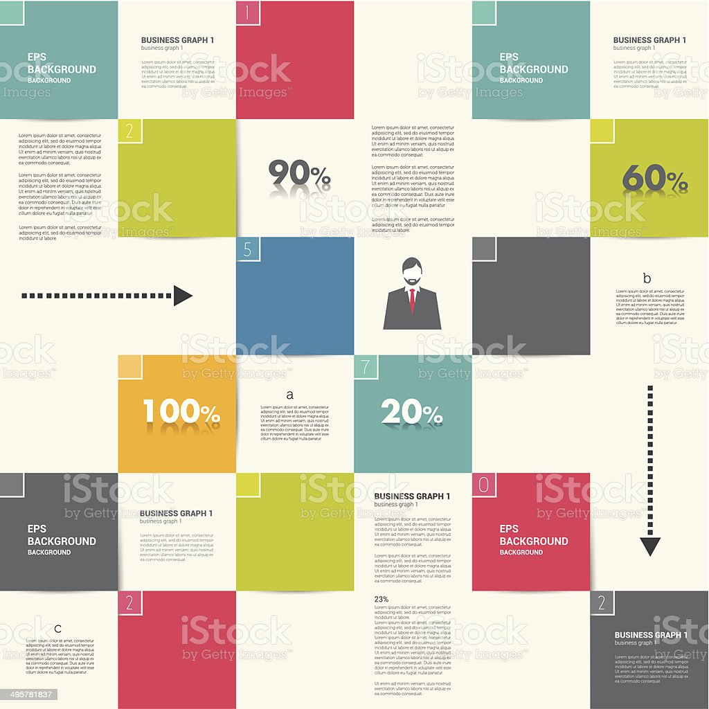 Modern flat template. vector art illustration