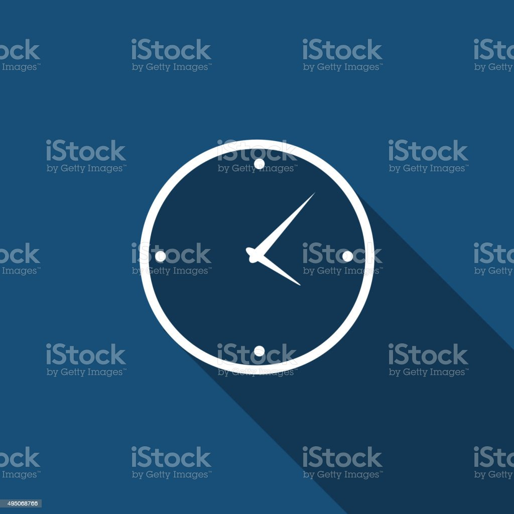 Modern Flat Time Management Vector Icon for Web and Mobile vector art illustration