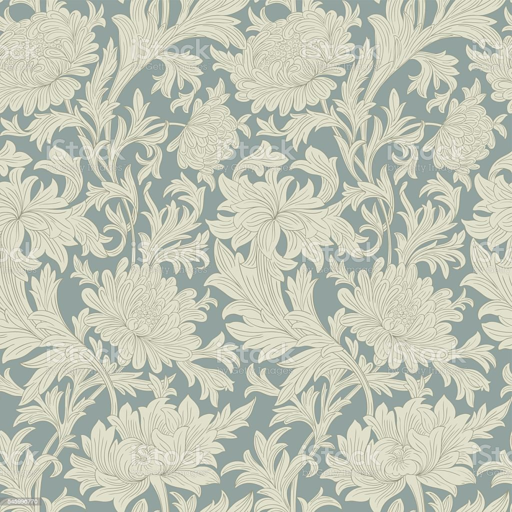 Modern floral seamless pattern for your design.   Print on textile. vector art illustration