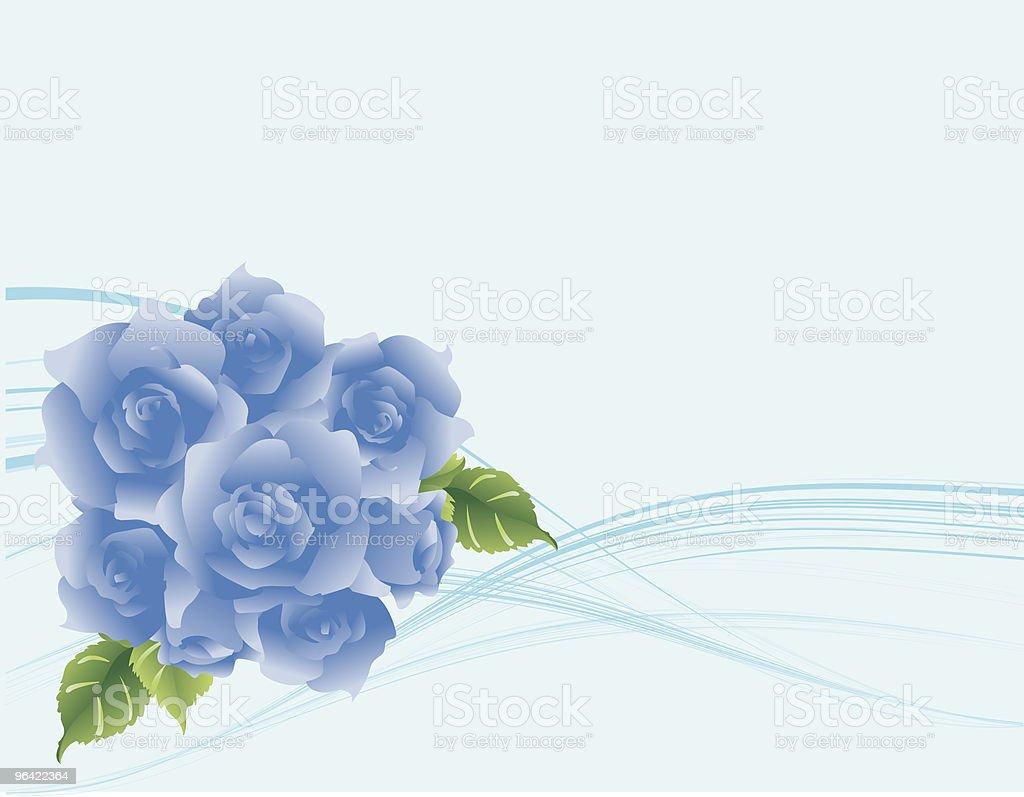 Modern flow blue roses background royalty-free stock vector art