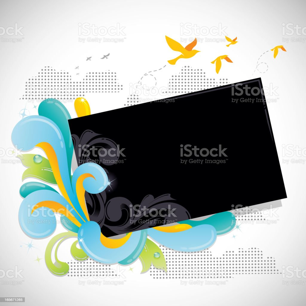Modern Funky Frame royalty-free stock vector art