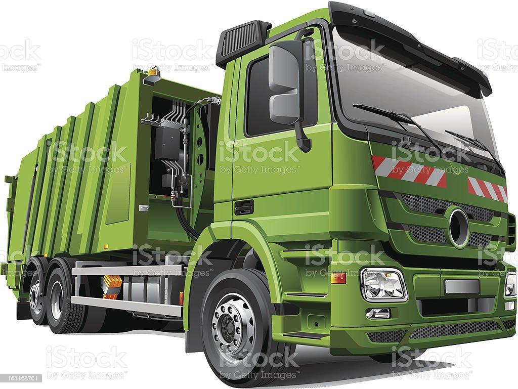Modern Garbage Truck royalty-free stock vector art