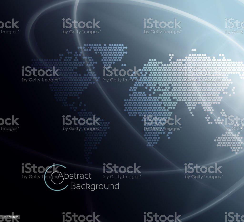Modern geo world map vector art illustration