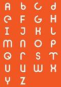 Modern geometric alphabet type