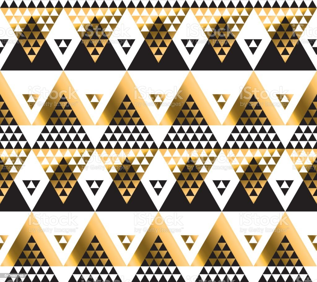 modern geometry American indian tribal seamless pattern. luxury fashionable wrapping paper, fabric, background vector art illustration
