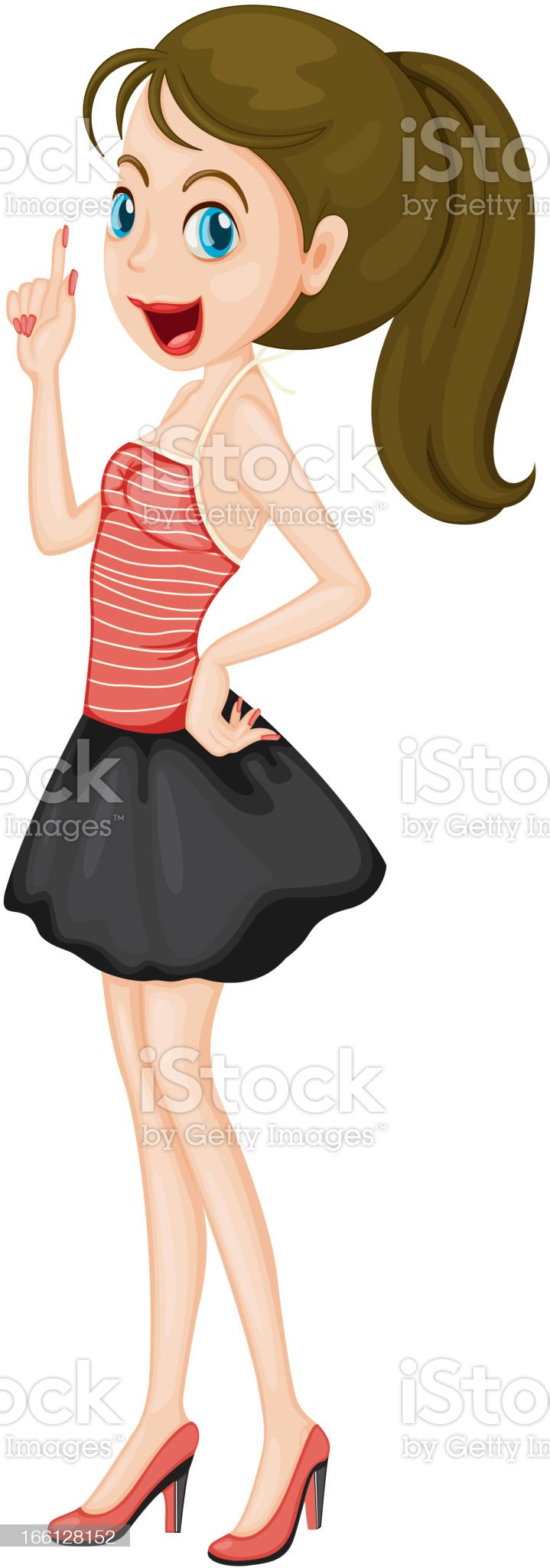Modern girl royalty-free stock vector art