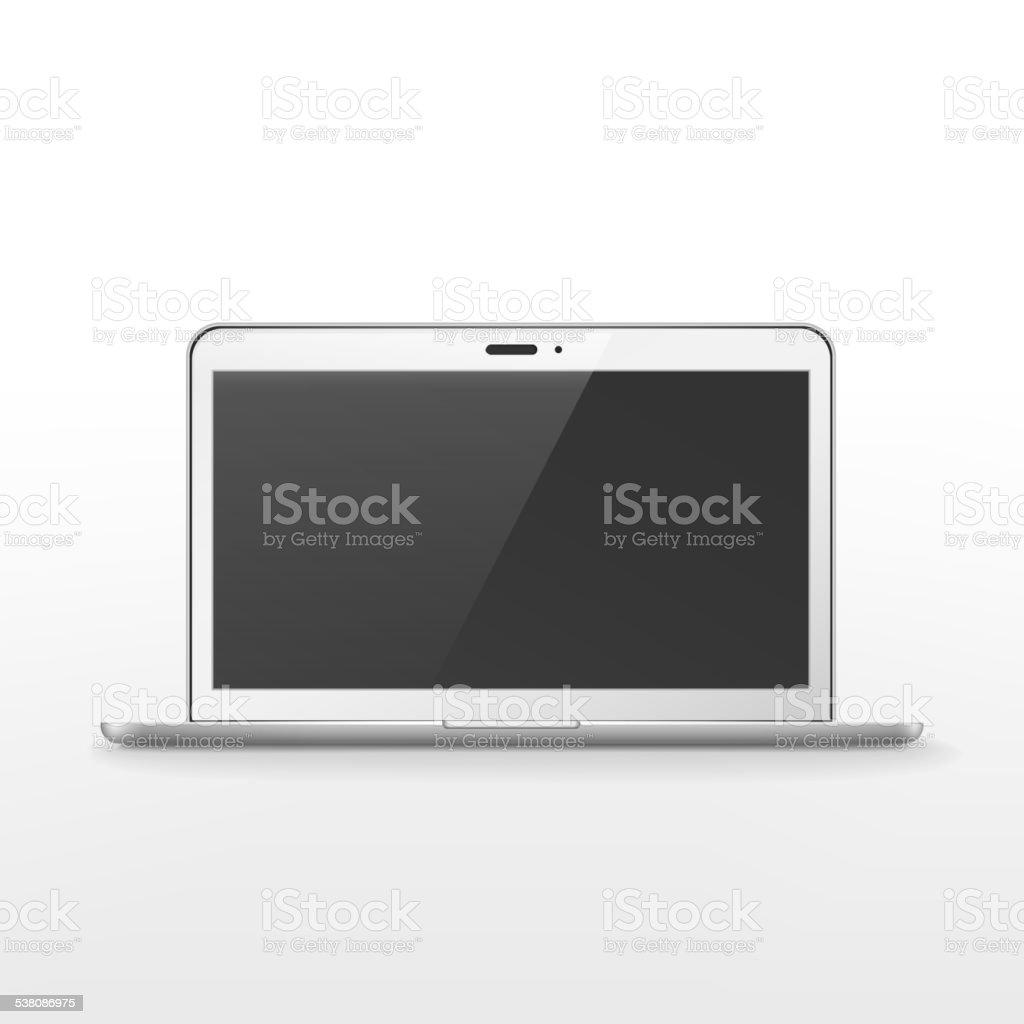 modern glossy laptop vector art illustration