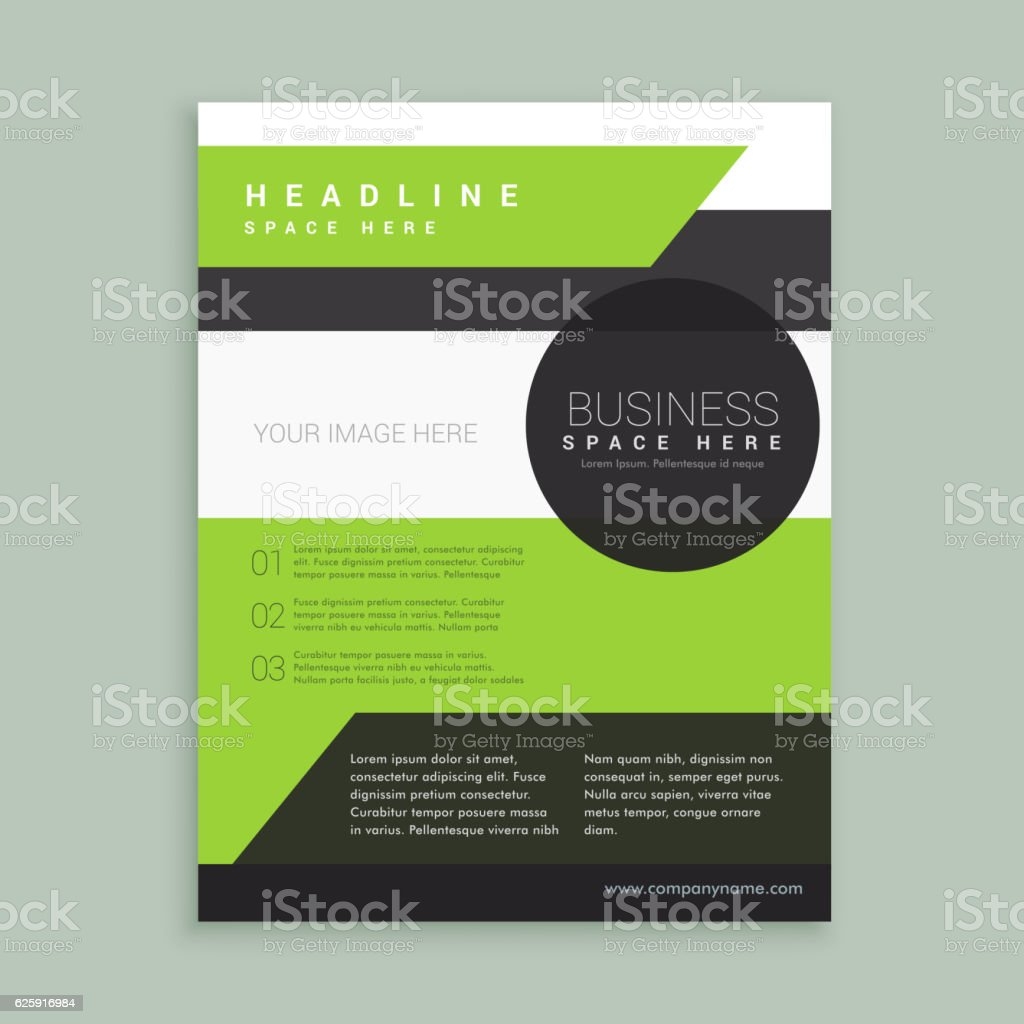 modern green black brochure template のイラスト素材 625916984 istock