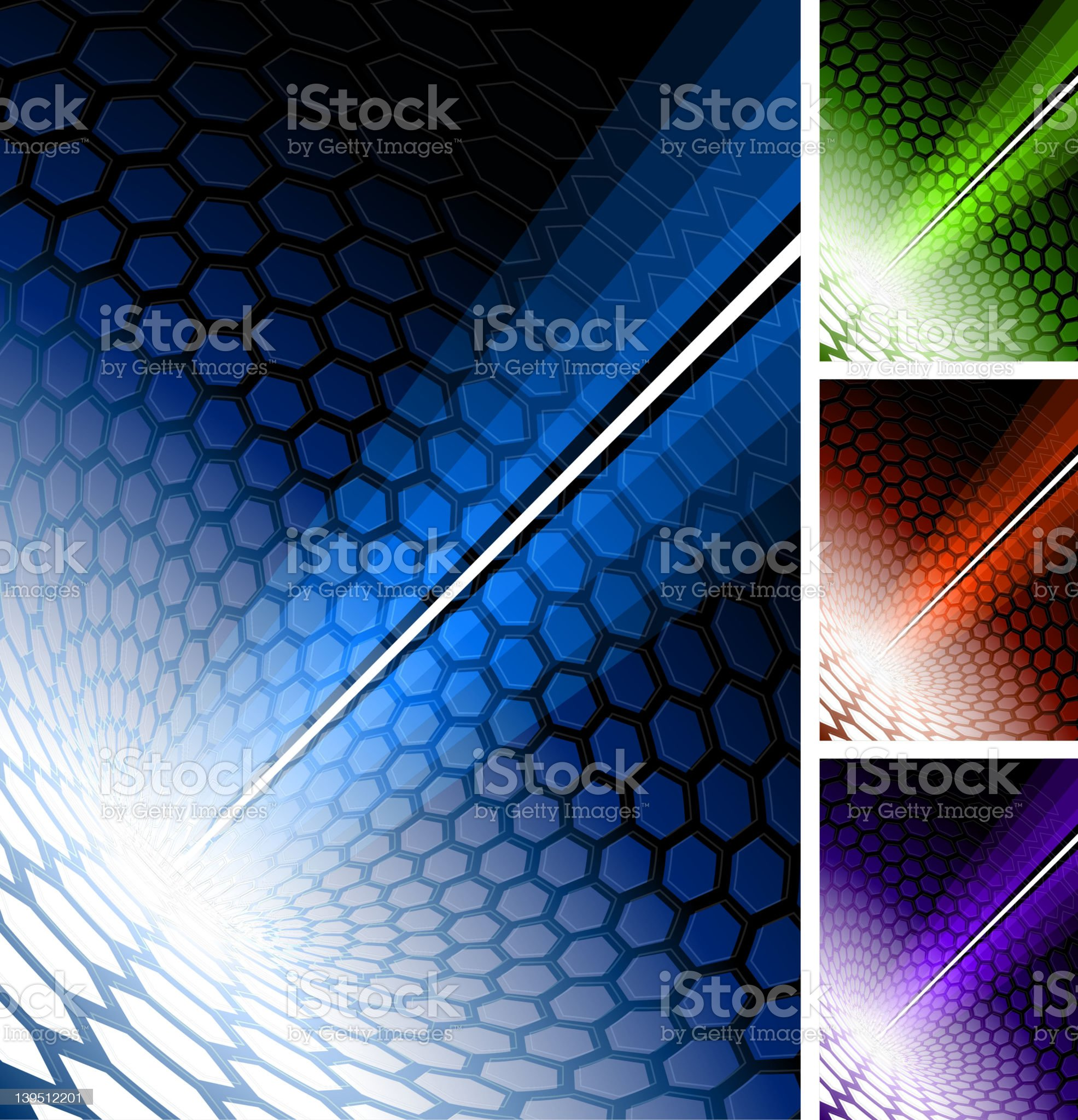 modern hexagon Background with abstract light royalty-free stock vector art