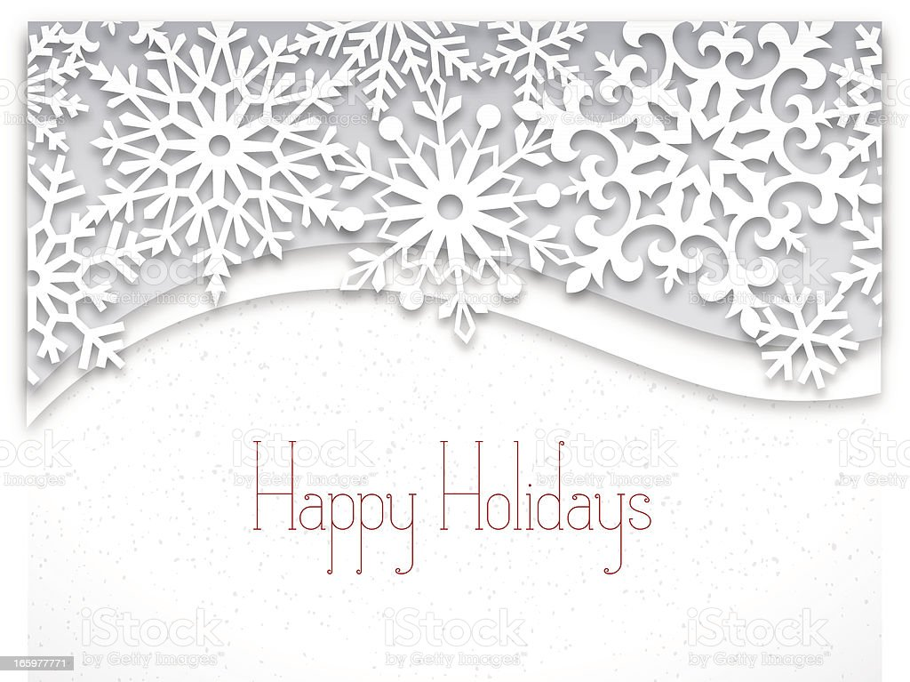 Modern Holiday Card Design vector art illustration