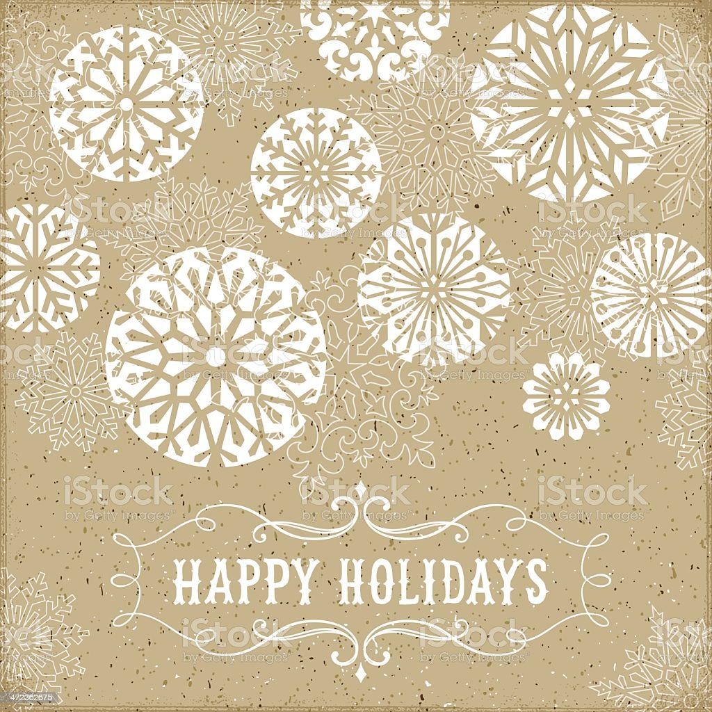Modern Holiday Card vector art illustration