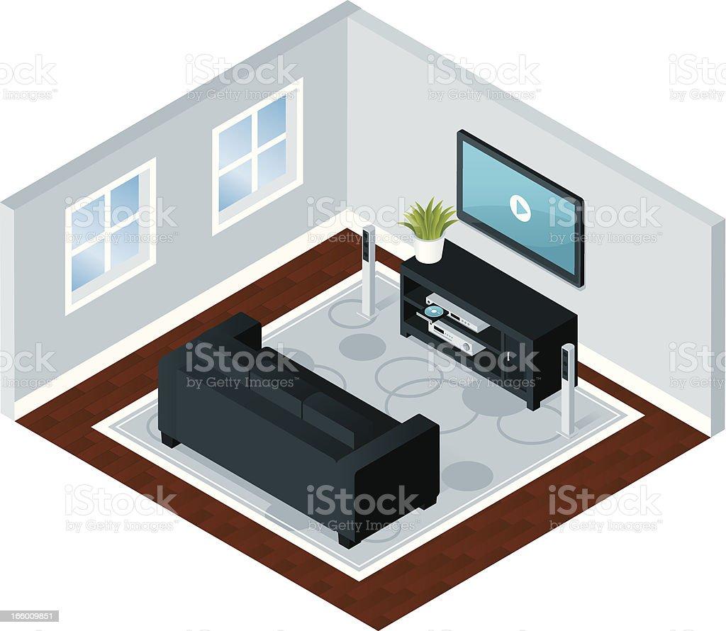 Modern Home Entertainment vector art illustration