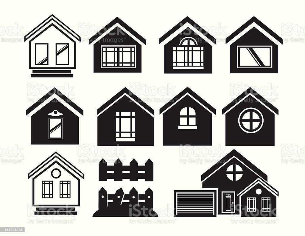 Modern home frameworks royalty-free stock vector art
