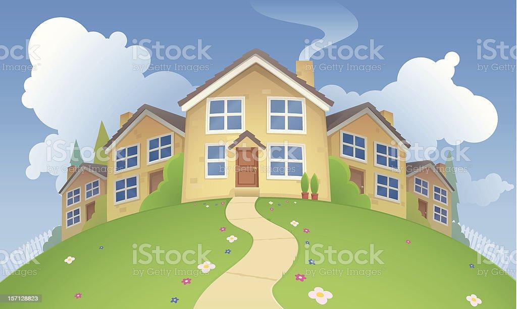 Modern Homes royalty-free stock vector art
