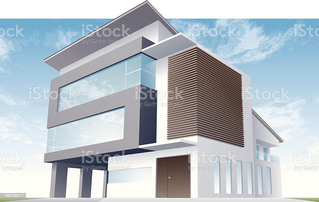 modern house vector art illustration