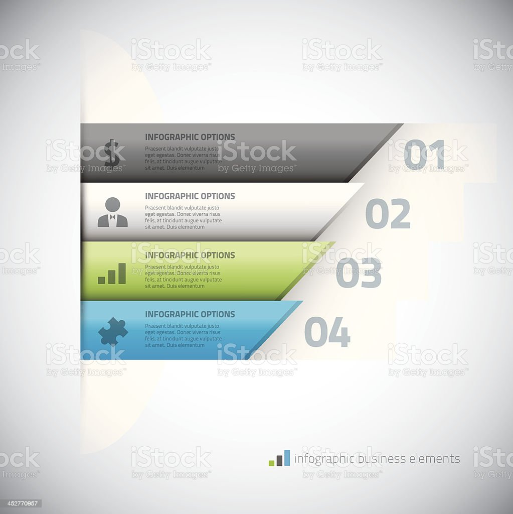 Modern infographic business elements vector eps10 illustration royalty-free stock vector art
