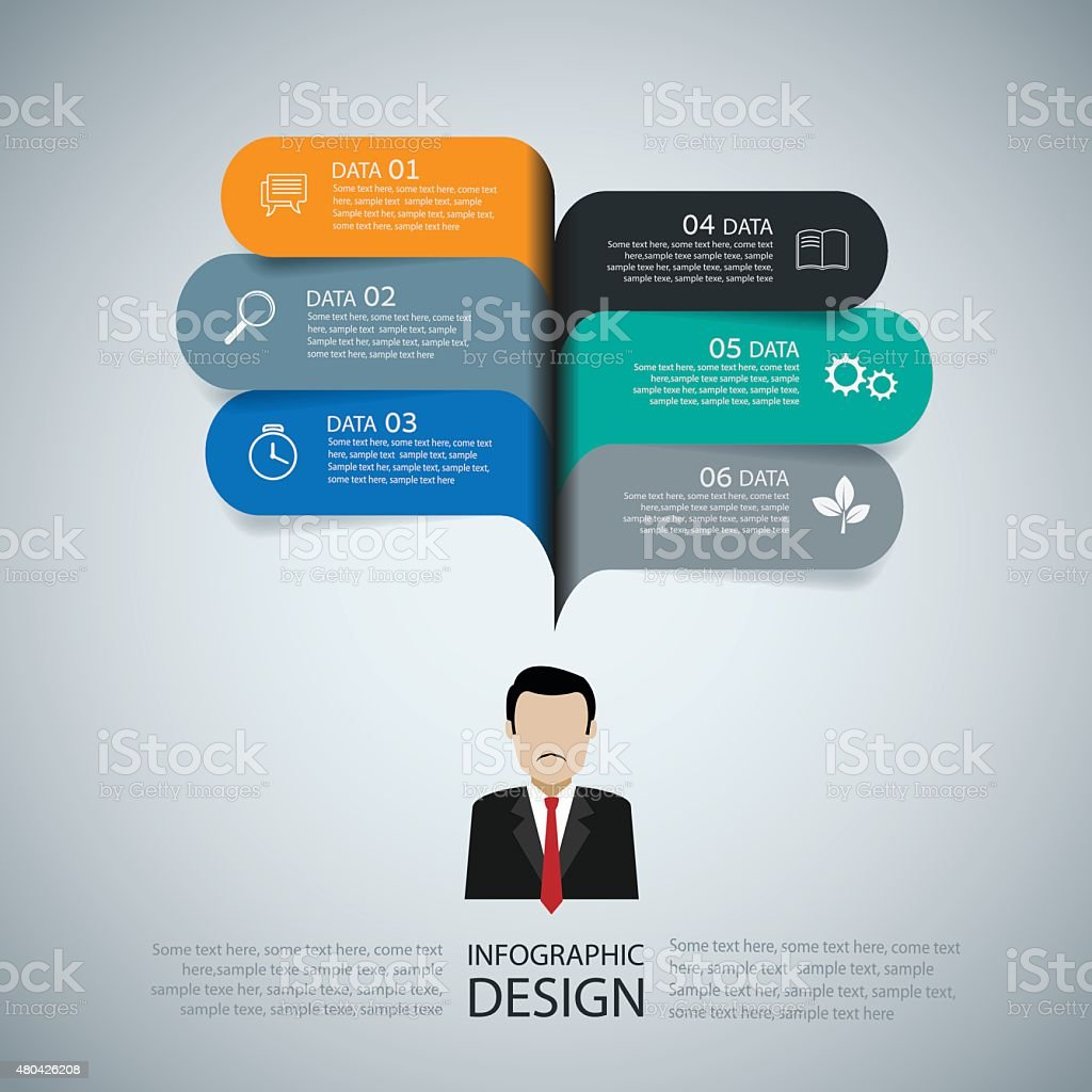 Modern infographic business speech template style. Vector illustration. vector art illustration