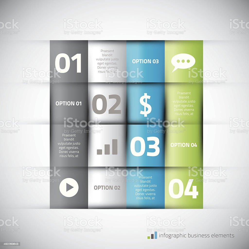 Modern infographic elements with icons vector illustration royalty-free stock vector art