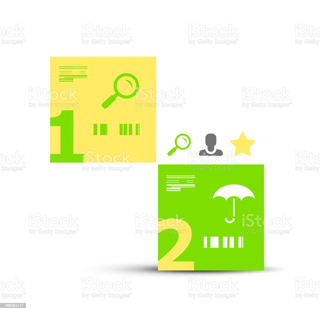 Modern infographic geometric numbered banner royalty-free stock vector art