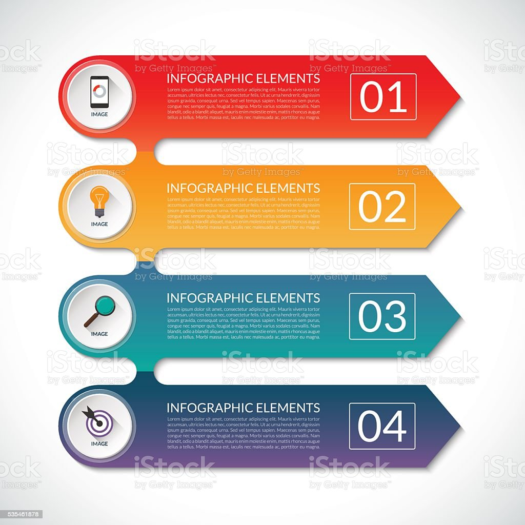 Modern infographic options banner with 5 steps, options, parts. vector art illustration