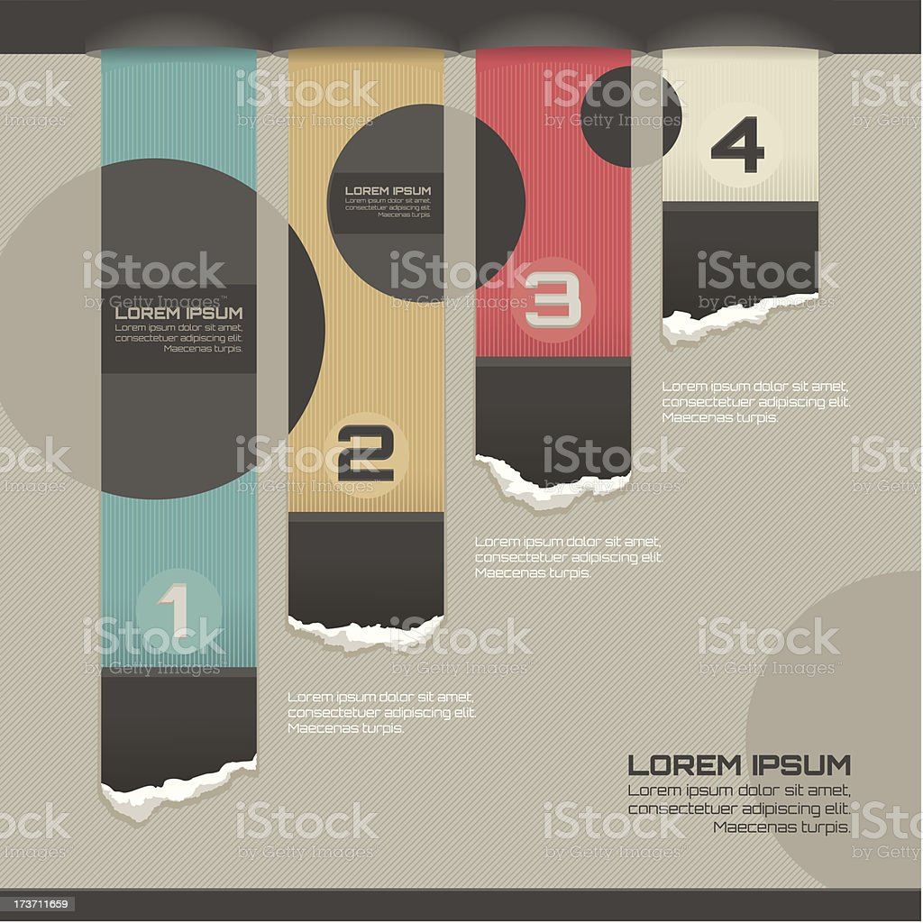 Modern infographic template royalty-free stock vector art
