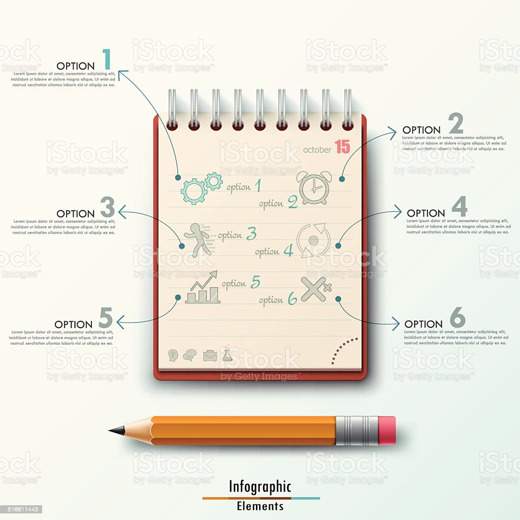 Modern Infographic template vector art illustration