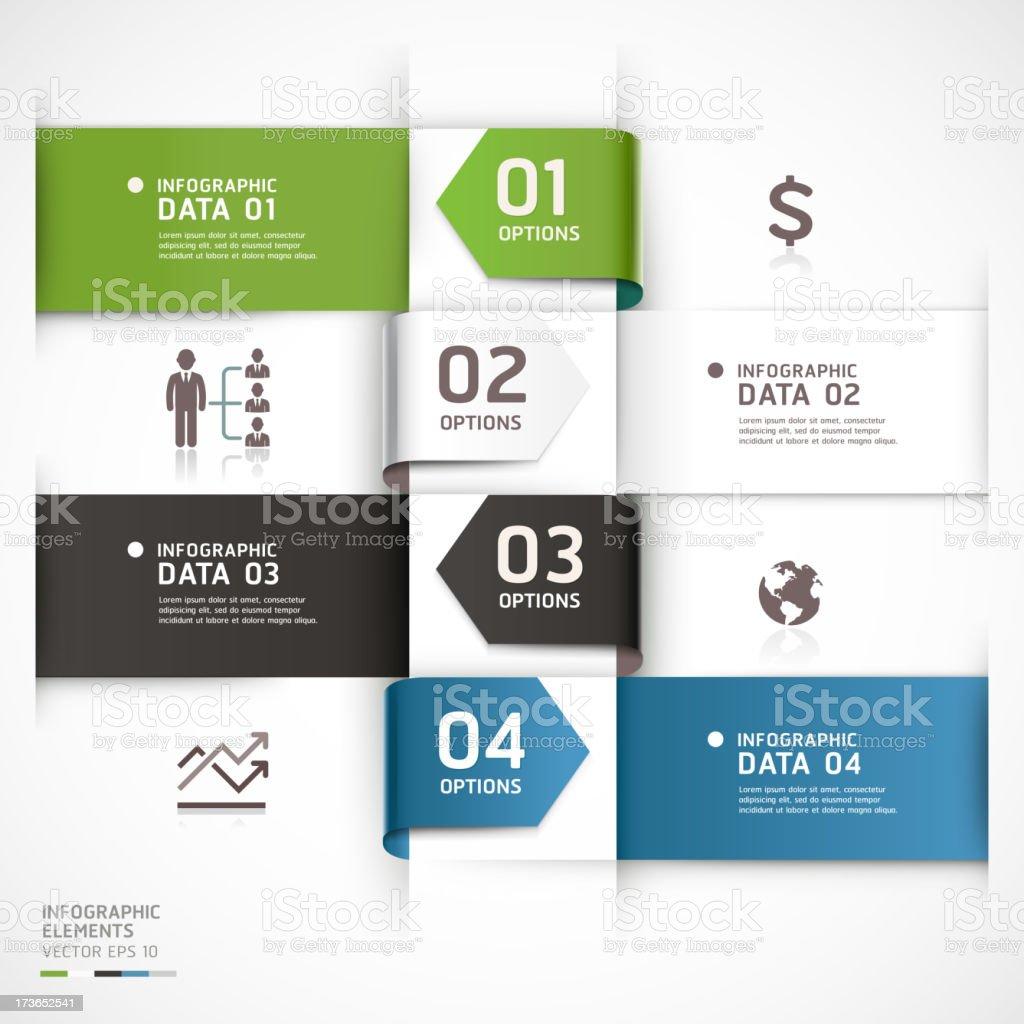 Modern Infographics business arrow diagram template. royalty-free stock vector art