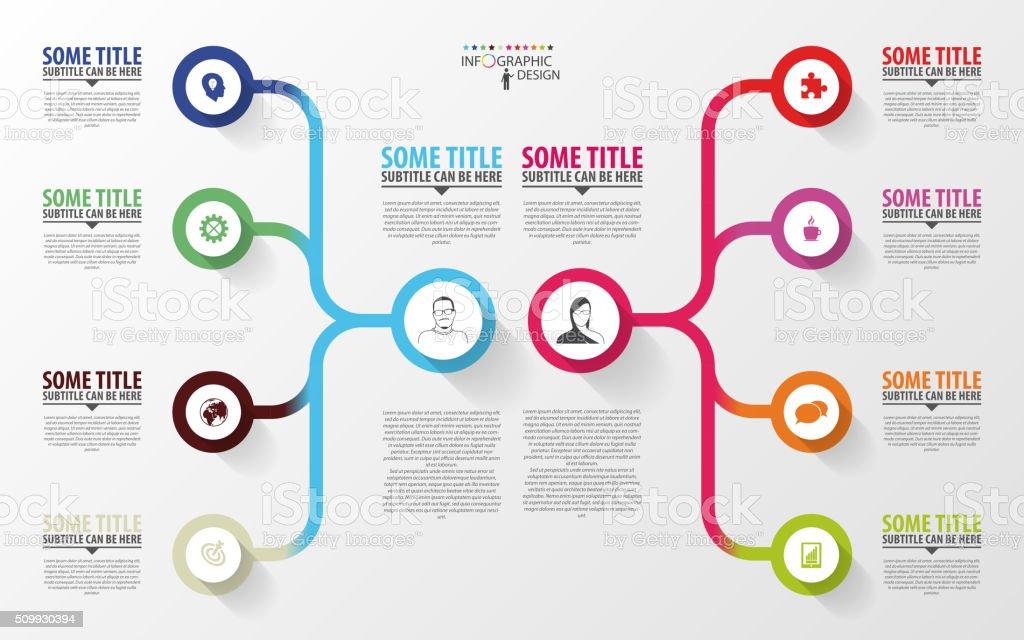 Modern infographics. Business plan design template. Vector vector art illustration