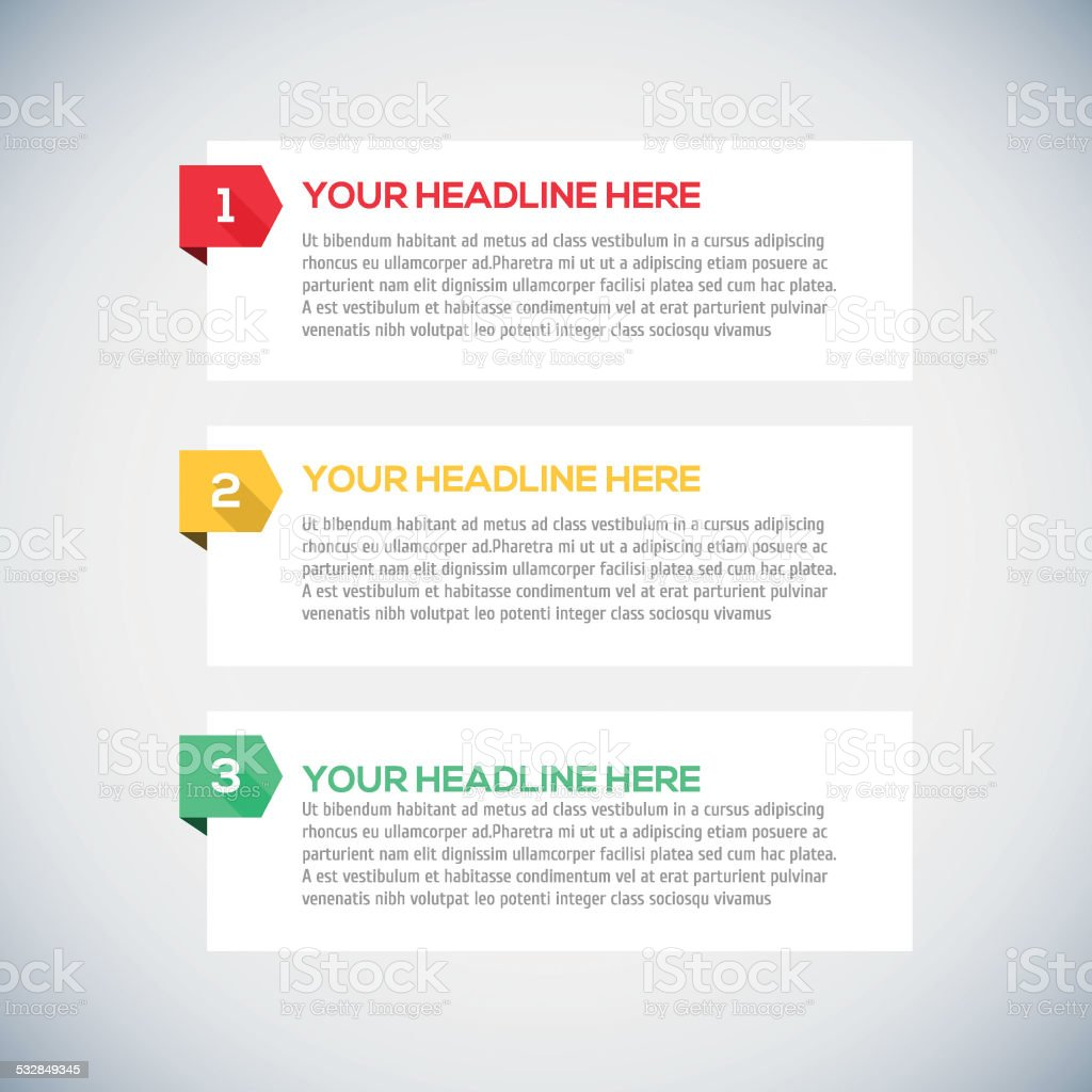 Modern infographics Design Layout with long shadow. vector art illustration