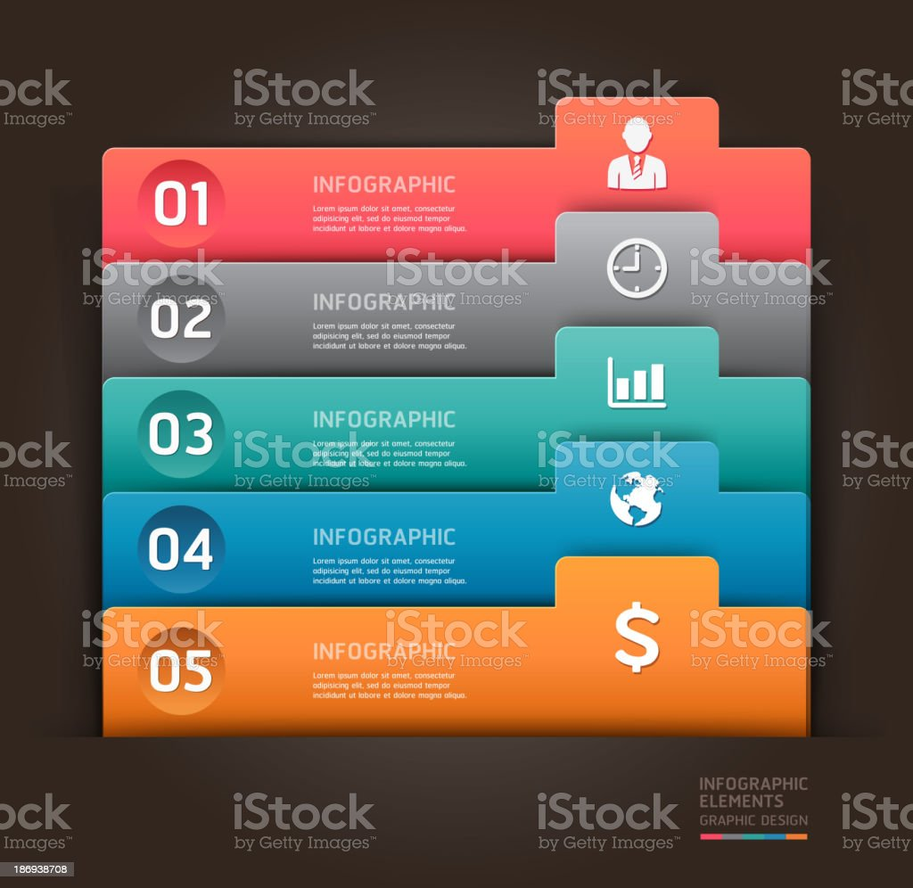 Modern infographics element number template. royalty-free stock vector art