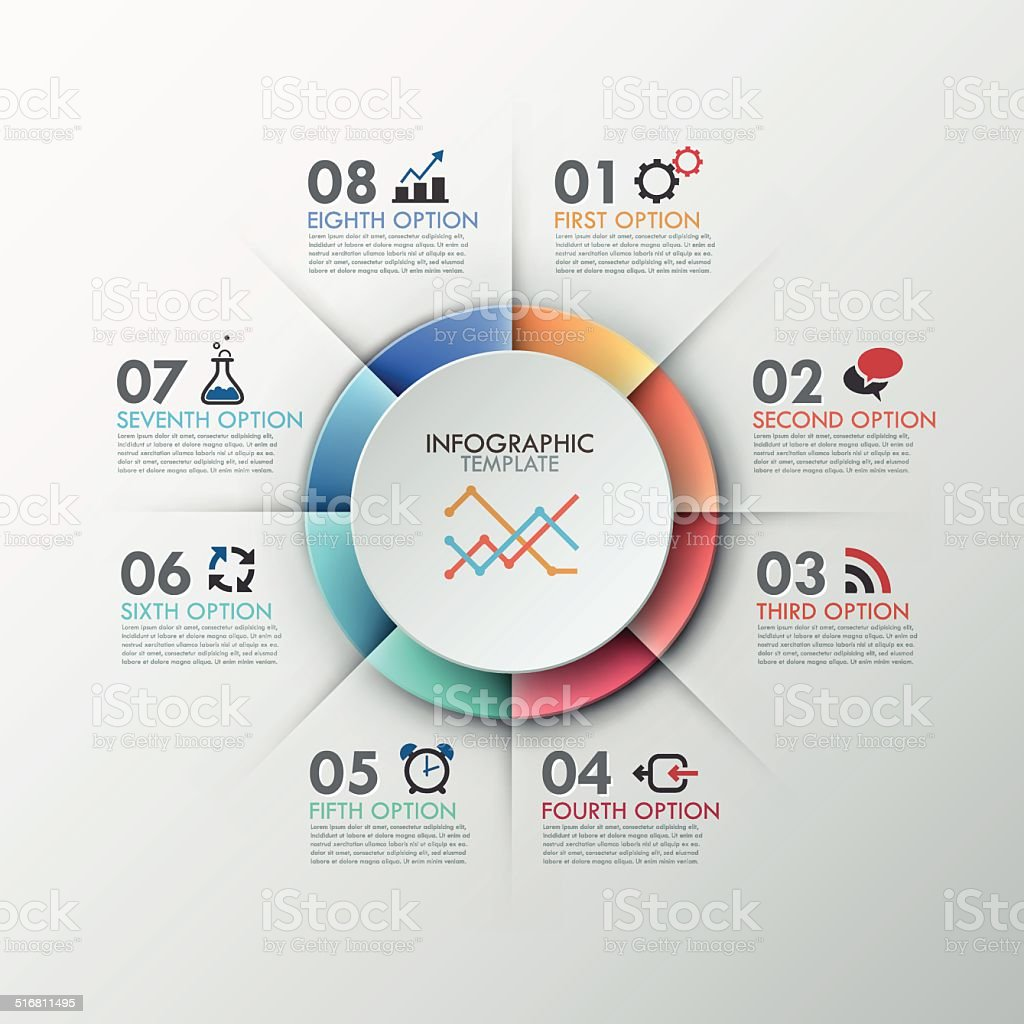 Modern infographics options banner. vector art illustration
