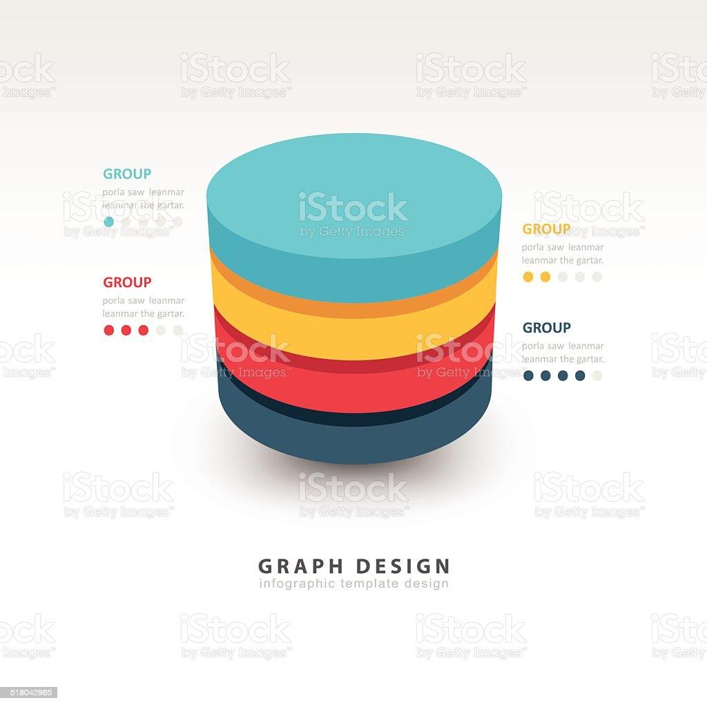 Modern Infographics template cylinder vector vector art illustration