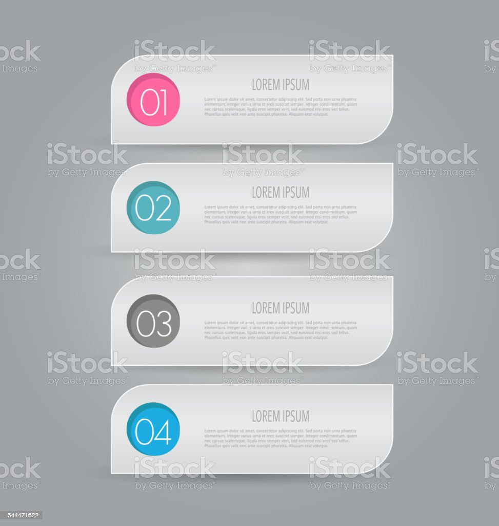 Modern inforgraphics template for banners, website templates and designs vector art illustration