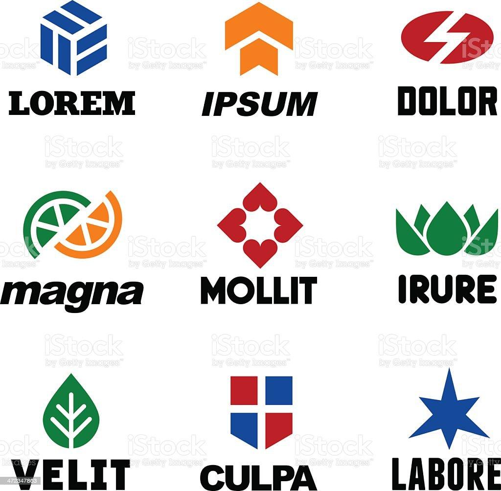 modern labels 3 royalty-free stock vector art