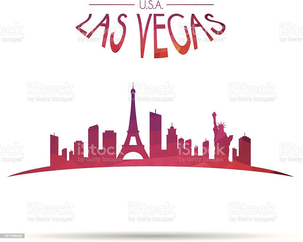 Modern Las Vegas cityscape vector art illustration