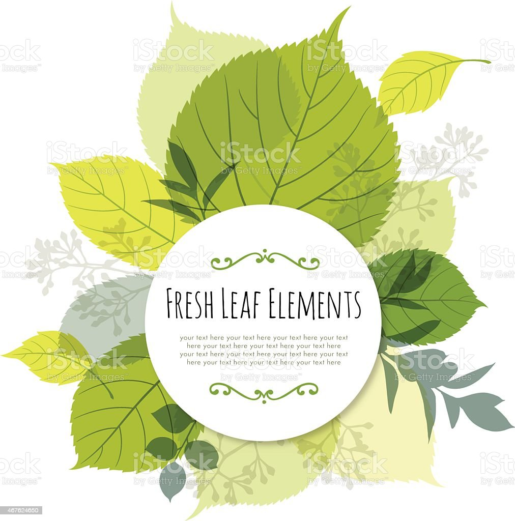 Modern Leaf Design with Copyspace vector art illustration