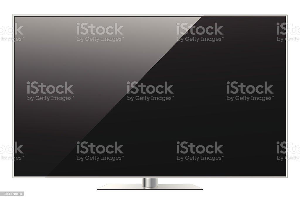 Modern LED TV vector art illustration