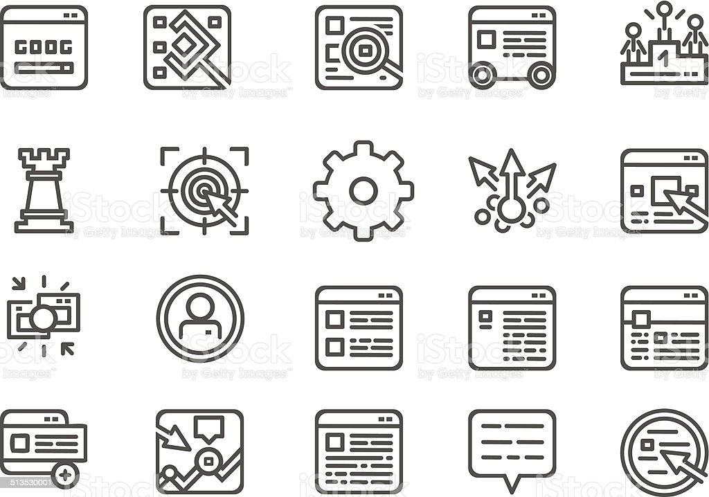 Modern line icons set vector art illustration