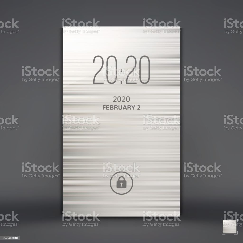 Modern Lock Screen for Mobile Apps. Mobile Wallpaper. Vector Illustration. vector art illustration