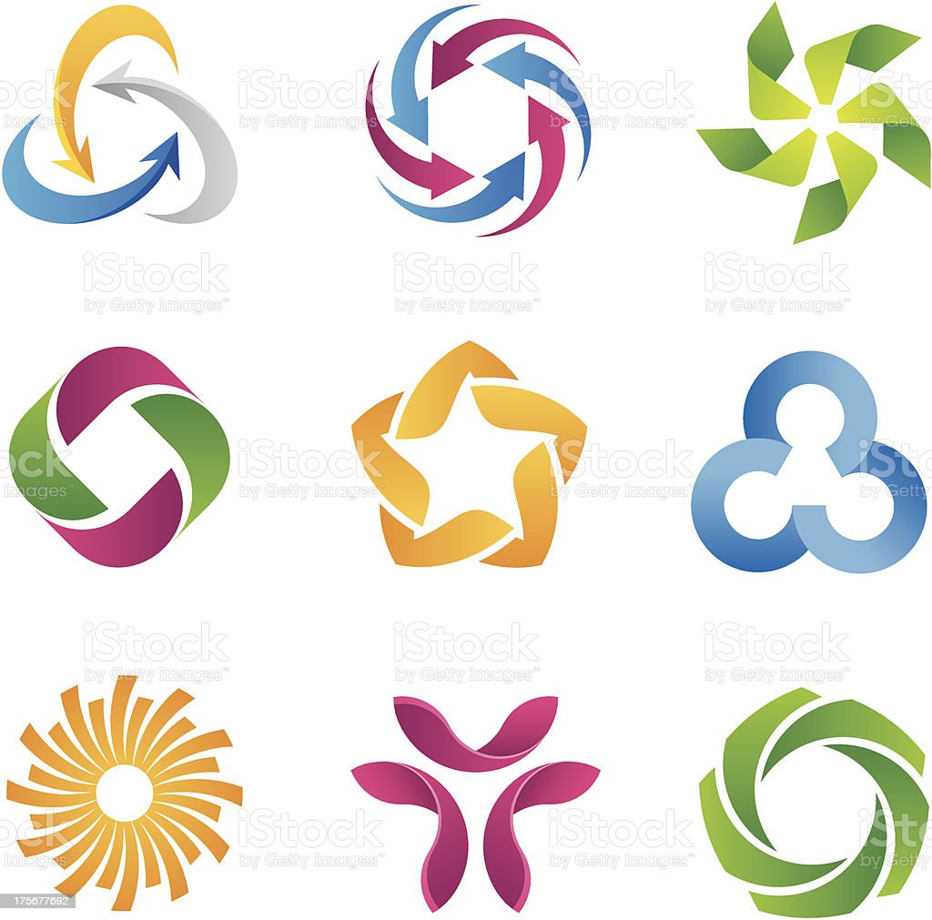 Modern loop logos and icons template vector art illustration