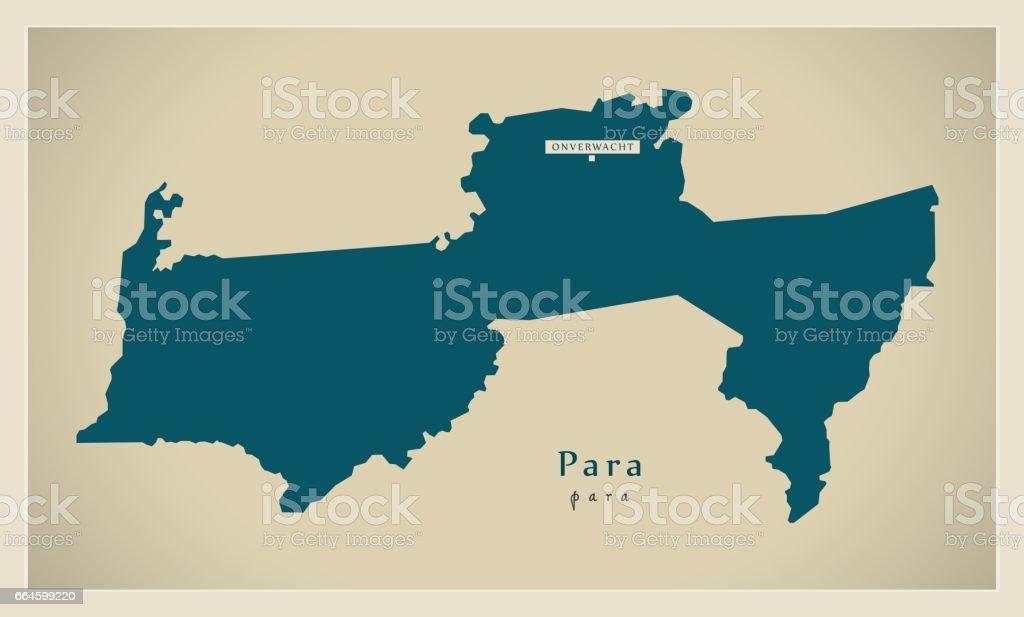 Modern Map - Para SR vector art illustration